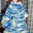 100均毛糸で編んだドール服