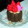 イチゴのビスケットケーキ